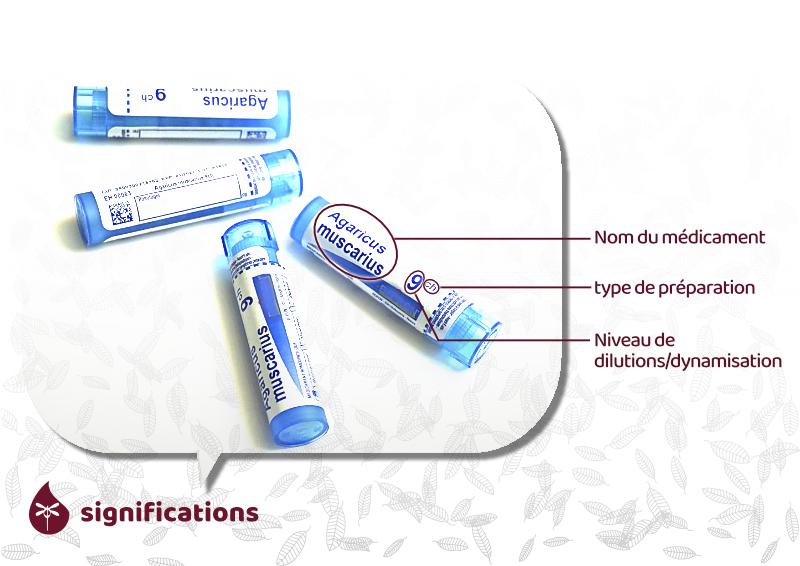 significations des mentions sur emballage médicaments homéopathiques